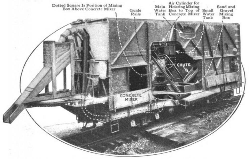 McKeen Concrete Car Carolina Clinchfeild & Ohio Railway