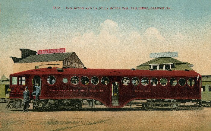 Postcard of McKeen Car LA&SDBRy
