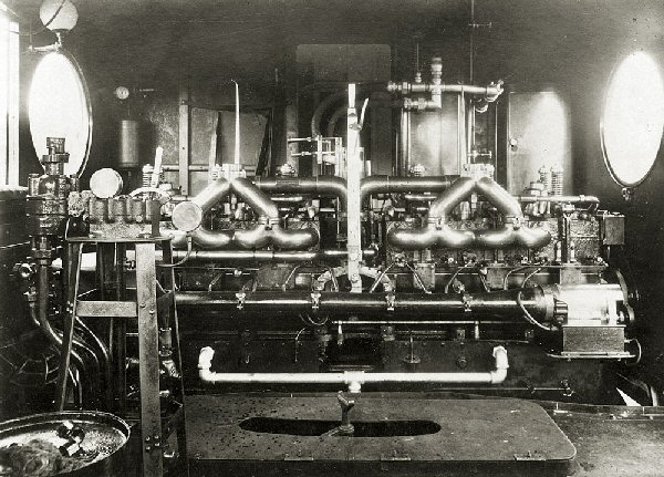 inside of engine room of Australia McKeen car