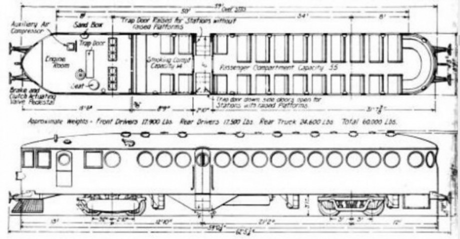 McKeen blue prints for the Queensland Railway McKeen Car