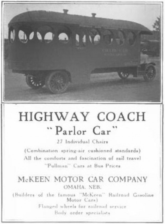 McKeen Bus Advertisement