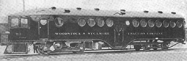 McKeen Motor Car #711 of the Woodstock & Sycamore Railroad