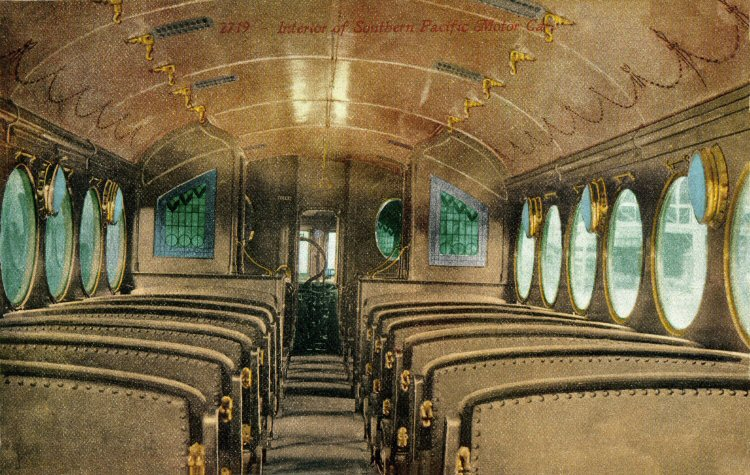 Southern Pacific McKeen Motor Car interior